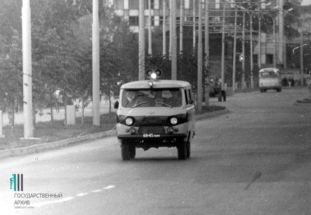 Оперативная группа пермской милиции на выезде, 1971 год.