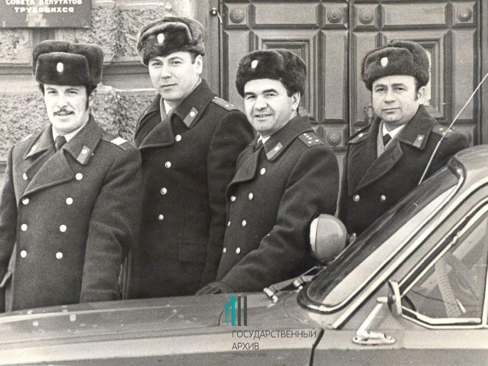 Передовые работники пермской милиции, 1976 год.