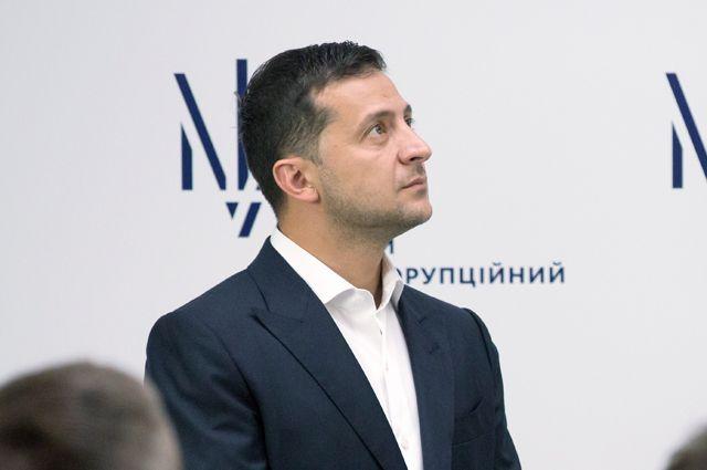 Президент Владимир Зеленский на брифинге в Киеве.