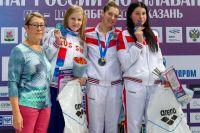Александра Сабитова стала третьей на дистанции 200 м баттерфляем.