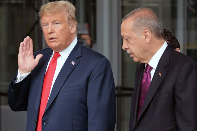 Президент США Дональд Трамп и президент Турции Реджеп Тайип Эрдоган.