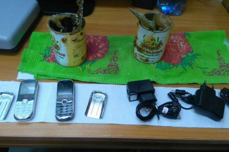 В августе 2018 года сотрудники ИК-4 (Ныроб) во время досмотра передачи в банках с тушёнкой обнаружили два сотовых и два зарядных устройства. Еду принесла гражданка для осуждённого.