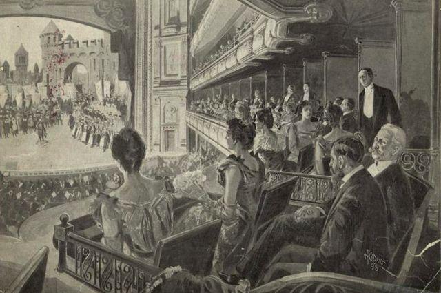 Театр XIX века - место для общения, и не всегда взгляд зрителя был направлен исключительно на сцену. Театралы рассматривали друг друга, а из лож на партер открывался отличный вид.