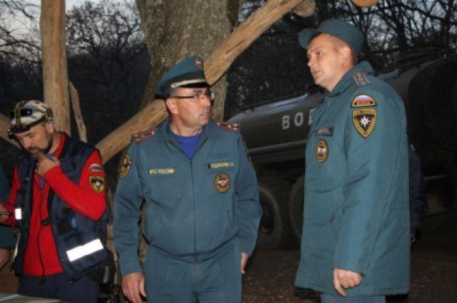 Врайоне лесного пожара вКрыму введен режимЧС