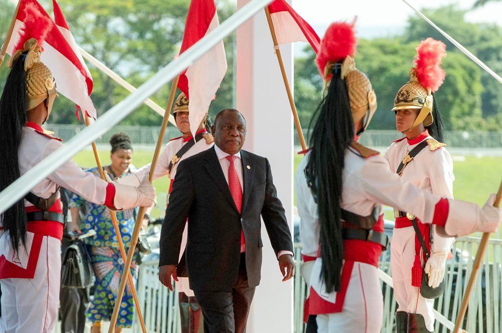 Президент Южной Африки Сирил Рамафоса.