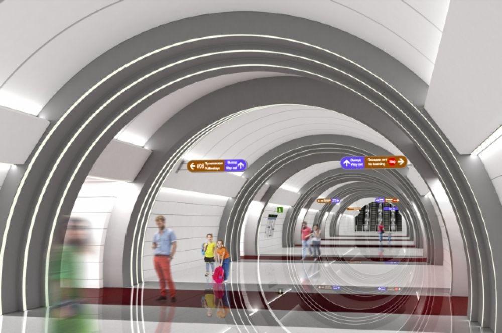 Проект станции «Юго-Западная».