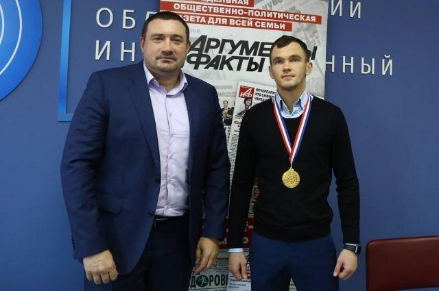 Александр Нестеров (справа) и его тренер Алексей Чугреев