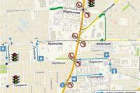 Изменения связаны с закрытием левых поворотов по ул. Шахтеров