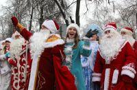 Ежегодно в Воронеже проходит парад Дедов Морозов.