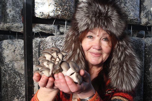 Наталья Шилина получила грант на выращивание вешенок.