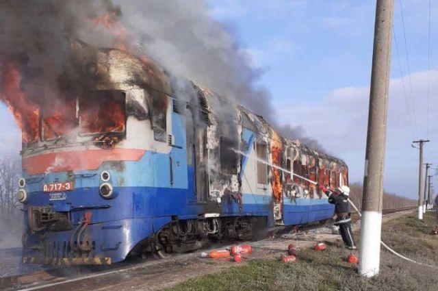 В Николаевской области горел пассажирский поезд: детали инцидента