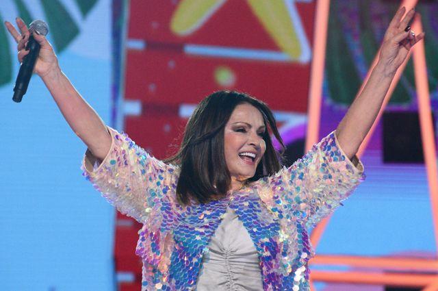 София Ротару на закрытии международного конкурса молодых исполнителей популярной музыки «Новая волна-2019» в Олимпийском парке.
