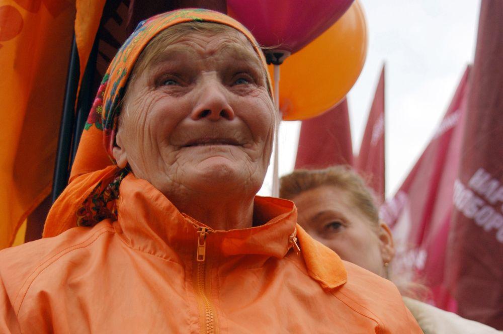 «Символ» «оранжевой революции» — бабка Параска — активная участница протестных митингов 2004 года и дальнейших политических событий на Украине.