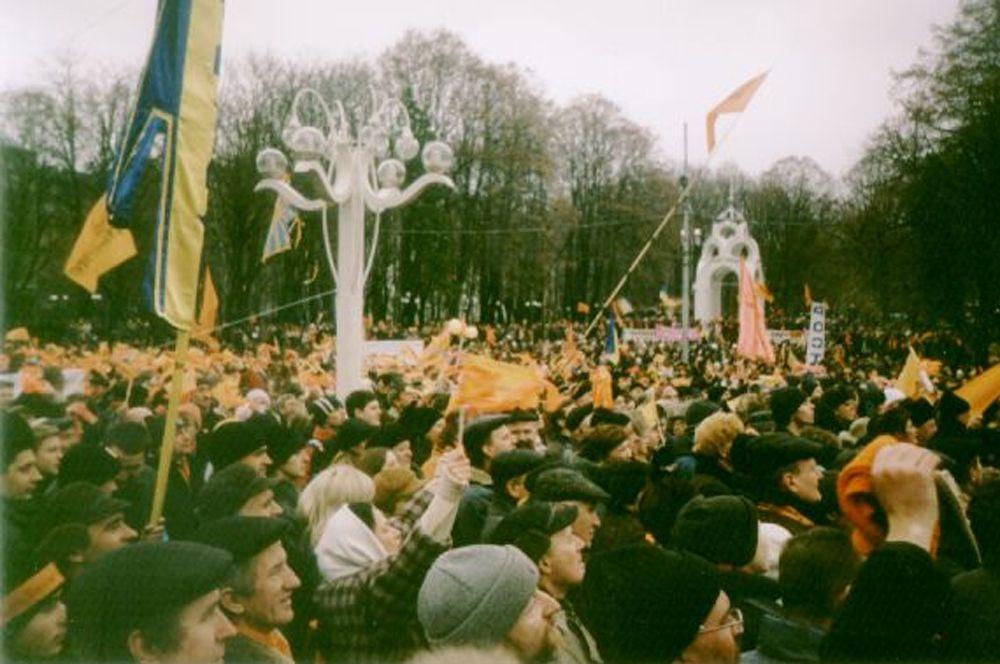 Митинг сторонников кандидата в президенты Ющенко в Киеве.