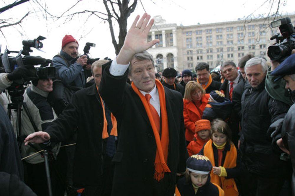 Виктор Ющенко во время событий 2004 года.