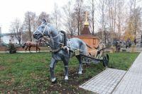 Парк, прилегающий к центральной площади с. Яльчики