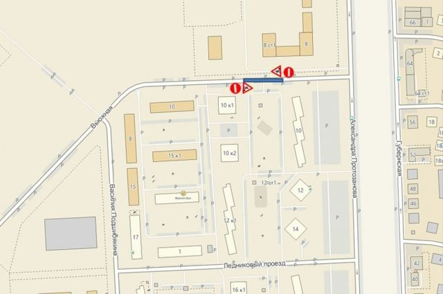 На участке улицы Вьюжной будет временно прекращено движение транспорта