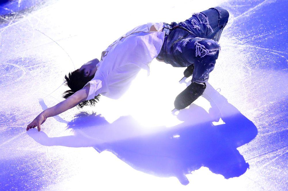 Японский фигурист Сёма Уно выступает на этапе Гран-при в Москве.