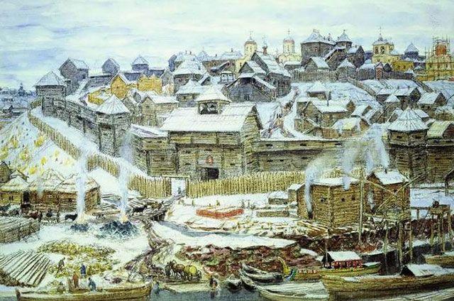 А. М. Васнецов. «Московский Кремль при Иване Калите». 1921 г.
