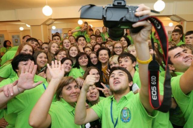 Волонтеры на международном форуме в ХМАО
