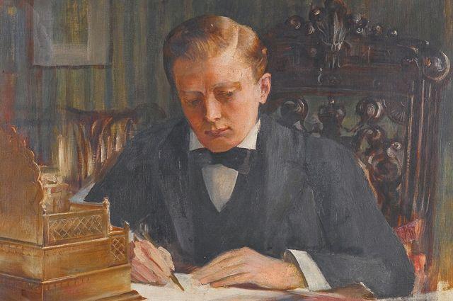 Молодой Черчилль на картине Эдвина Артура Уорда.