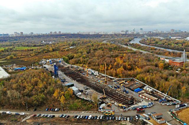 Строительство станции «Карамышевская» назападном участке БКЛ.