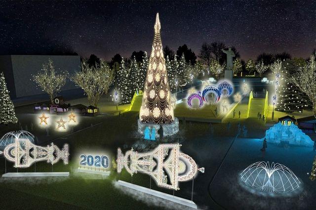 Так будет выглядеть новогодняя площадь имени Ленина.