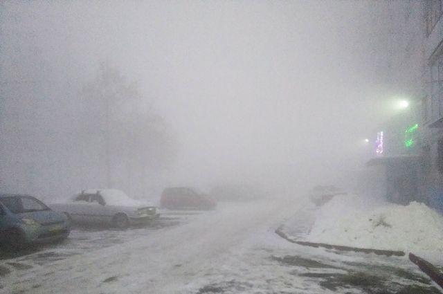 Накануне Кемерово окутал плотный туман.