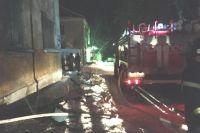 Предварительная причина пожара в подъезде – поджог.