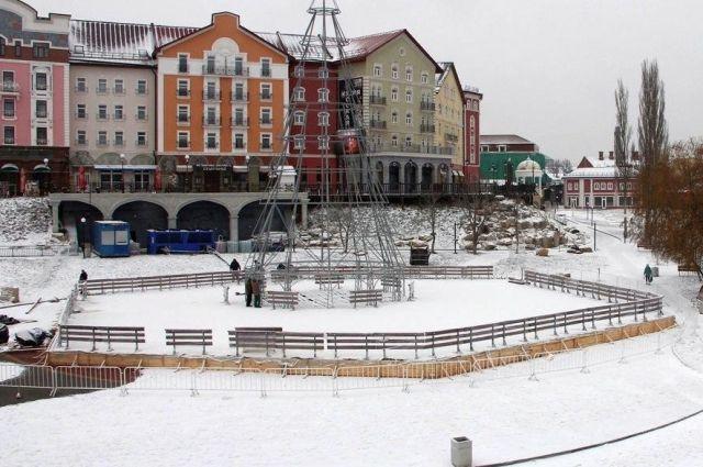 Каток на Лыбедском бульваре будет с искусственным ледовым покрытием.