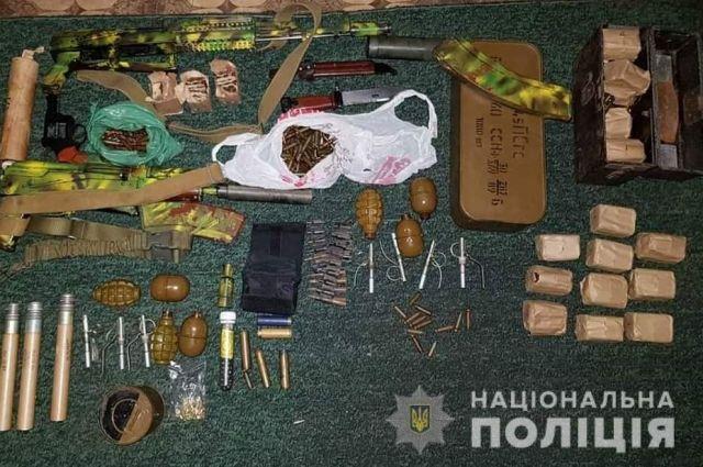 В Кировоградской области полиция обнаружила арсенал оружия: детали