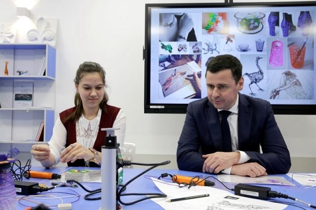 Второй детский технопарк «Кванториум» открыл губернатор Дмитрий Миронов.