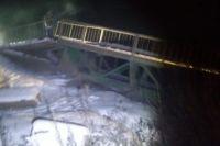 Рухнувший мост был временным.