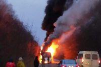 В Житомирской области загорелся рейсовый автобус: детали происшествия