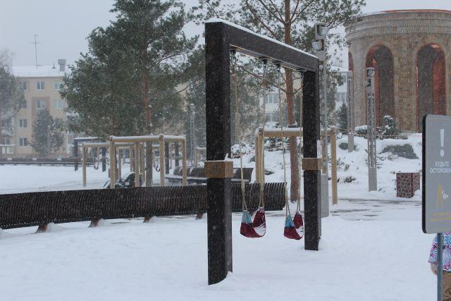 Парк Ангелов открыли на месте сгоревшего ТЦ «Зимняя Вишня».