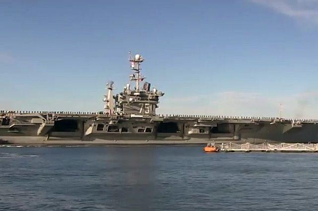 Атомный авианосец ВМС США «Гарри Трумэн» вошел в Средиземное море
