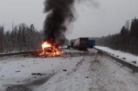На трассе Тюмень – Ханты-Мансийск в «Газели» сгорел водитель