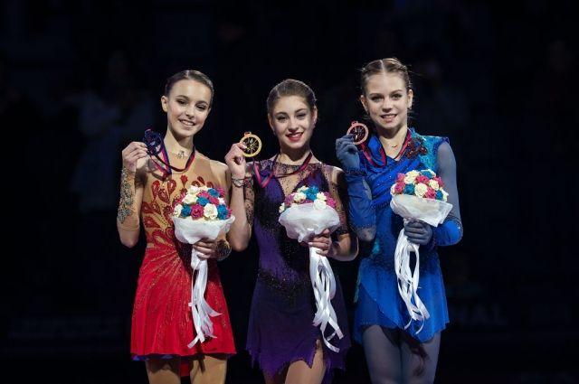 В женском катании на Гран-При-2019 весь пьедестал - у россиянок!