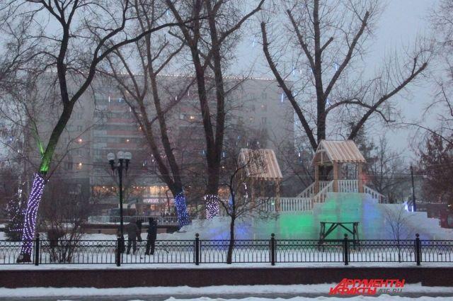 В Оренбурге в сквере у Дома советом построят ледяной городок.