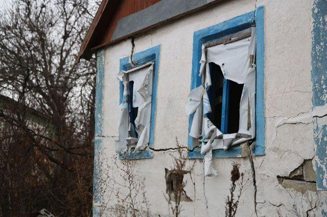 Дом в селе Петровское Донецкой области.