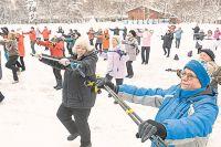 Палки для скандинавской ходьбы– это ещё и отличный тренажёр для гимнастических упражнений.