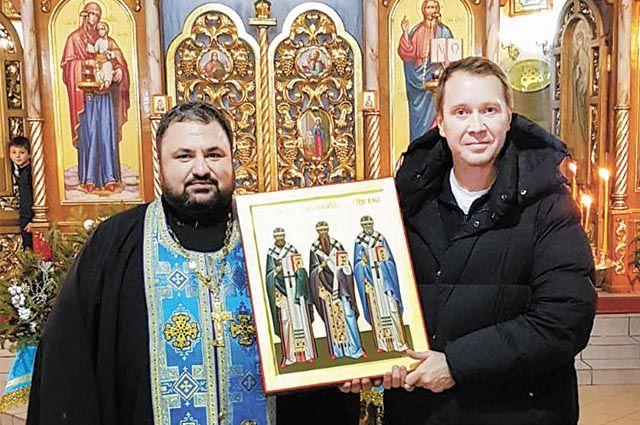 В храме теперь есть икона святителей Великопермских Герасима, Питирима и Ионы.