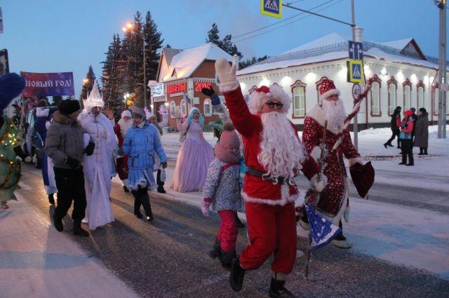 В Ялуторовске обещают особенно веселое шествие Дедов Морозов и Снегурочек