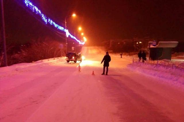 В Лабытнанги на улице Гагарина водитель иномарки сбил пешехода