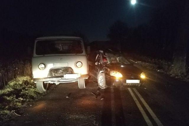 В Черняховском районе столкнулись четыре машины