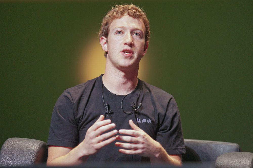 2010 год — Марк Цукерберг, основатель социальной сети Facebook.