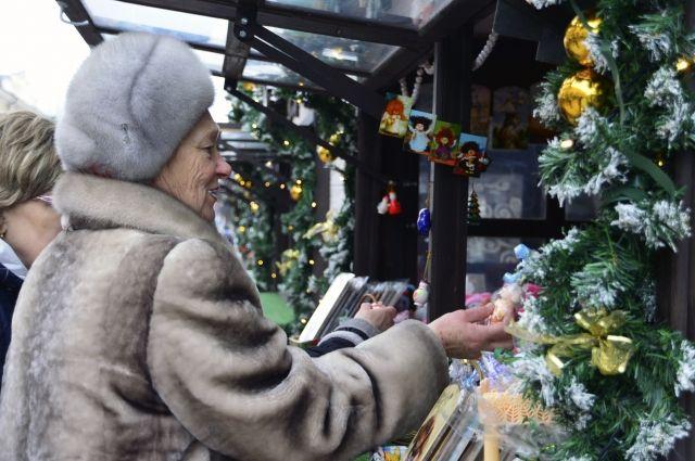 С 14 декабря на Трехсвятской будет работать Рождественская ярмарка.