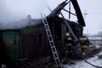 Дом почти полностью выгорел