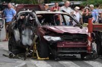 Автомобиль, в котором погиб журналист Павел Шеремет.