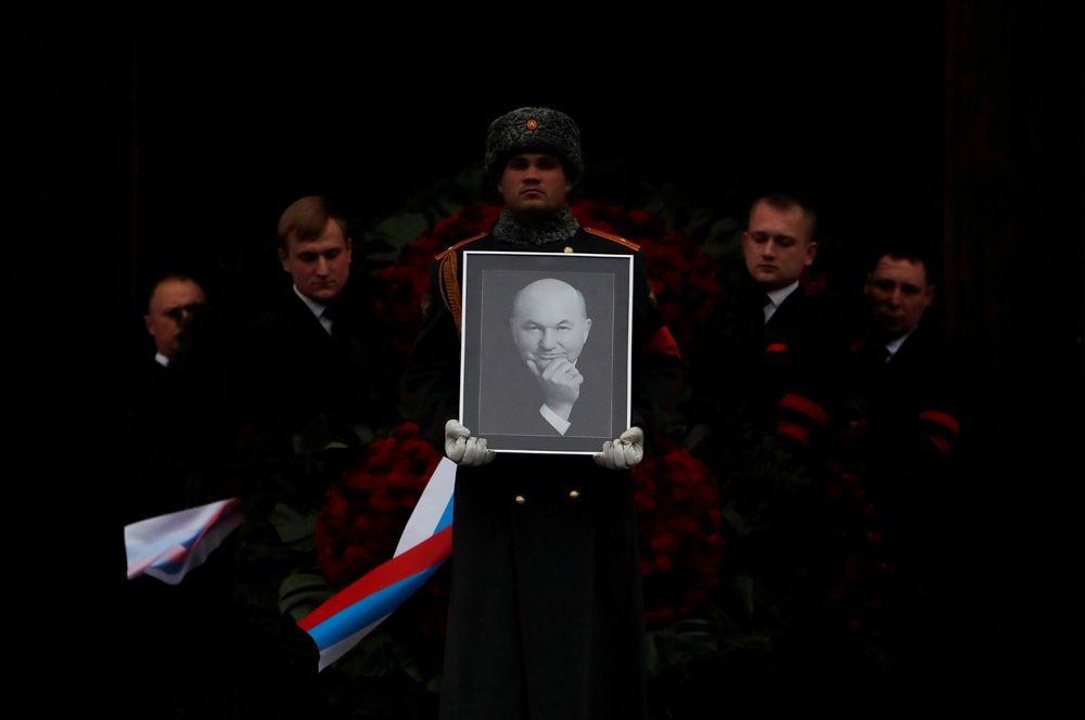 Похороны бывшего мэра Москвы Юрия Лужкова в Москве.